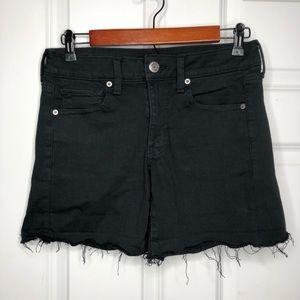 American Eagle Midi Black Shorts Size 6